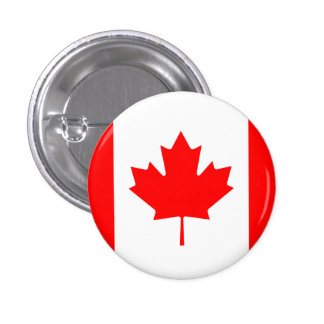 Canadian flag pinback buttons