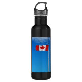 Canadian flag print 24oz water bottle