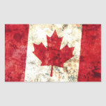 Canadian Flag Rectangle Stickers