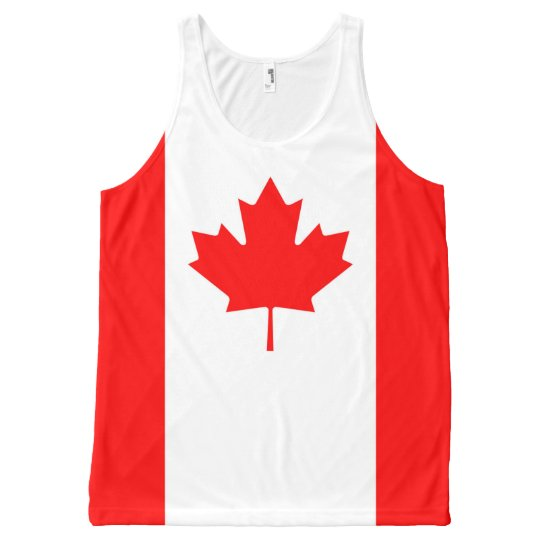 Canadian Flag Red Maple Leaf Full Print Tank