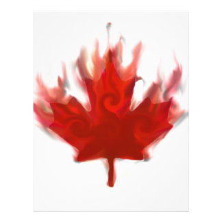 canadian flag  representing our hearts excitement 21.5 cm x 28 cm flyer