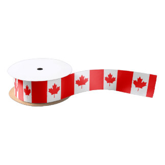 Canadian flag ribbon satin ribbon