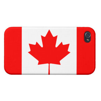 Canadian Flag Savvy iPhone 4 Glossy Finish iPhone 4 Cases