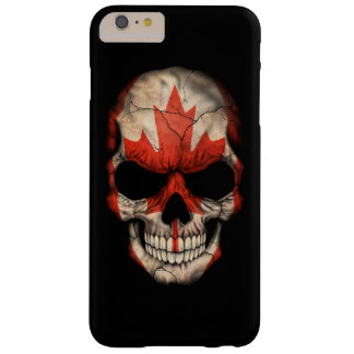 Canadian Flag Skull on Black Barely There iPhone 6 Plus Case