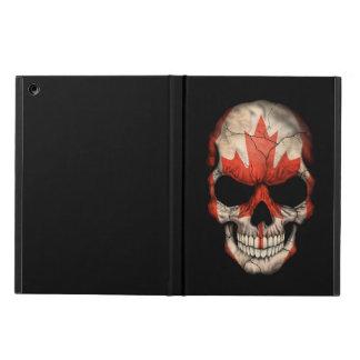 Canadian Flag Skull on Black iPad Air Cases