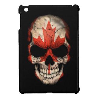 Canadian Flag Skull on Black iPad Mini Cover