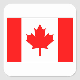 Canadian Flag Square Sticker
