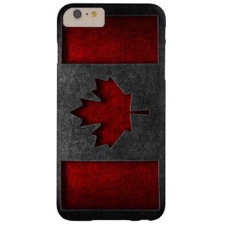 Canadian Flag Stone Texture Barely There iPhone 6 Plus Case