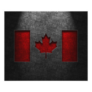 Canadian Flag Stone Texture Photo Print