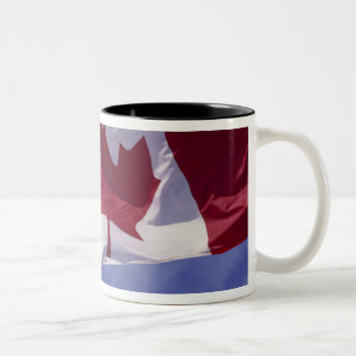 Canadian flag Two-Tone coffee mug