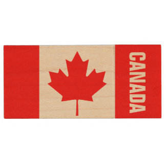 Canadian flag USB pendrive flash drive | Canada Wood USB 2.0 Flash Drive