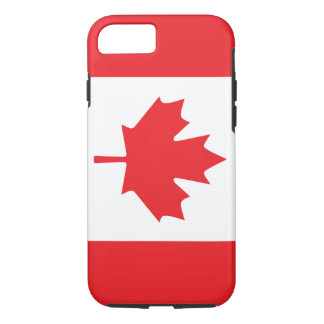 Canadian Flag With Red Maple Leaf iPhone 7 Case