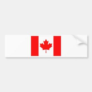 Canadian FlagPattern Bumper Sticker