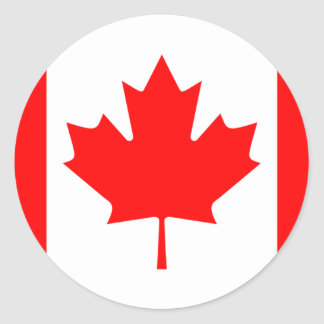 Canadian FlagPattern Round Sticker