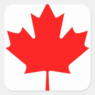 Canadian FlagPattern Square Sticker