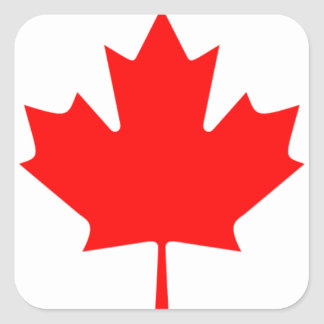 Canadian FlagPattern Square Stickers