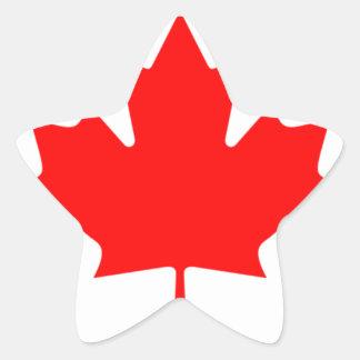 Canadian FlagPattern Star Sticker