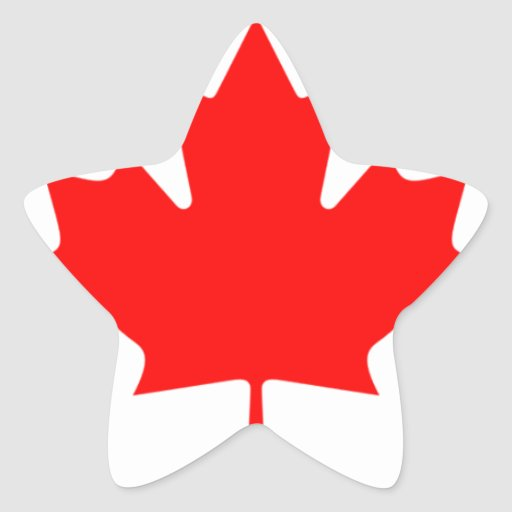 Canadian FlagPattern Stickers