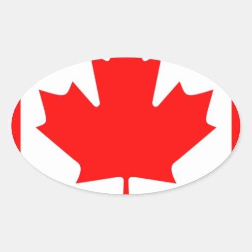 Canadian FlagPattern Sticker