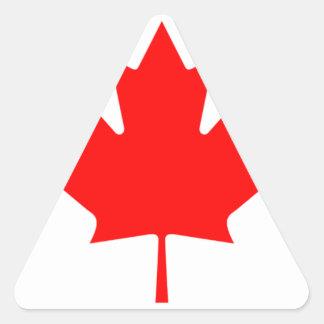 Canadian FlagPattern Triangle Sticker