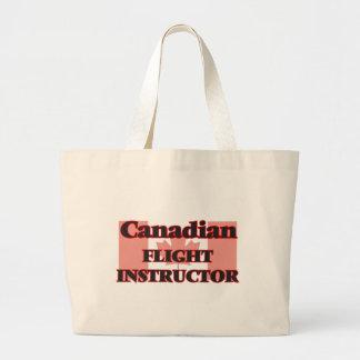 Canadian Flight Instructor Jumbo Tote Bag