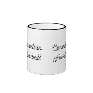 Canadian Football Classic Retro Design Ringer Mug