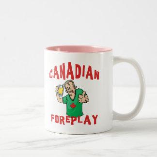 Canadian Foreplay Two-Tone Coffee Mug
