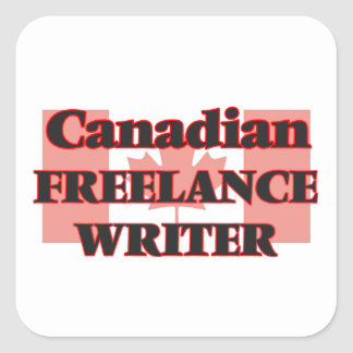 Canadian Freelance Writer Square Sticker