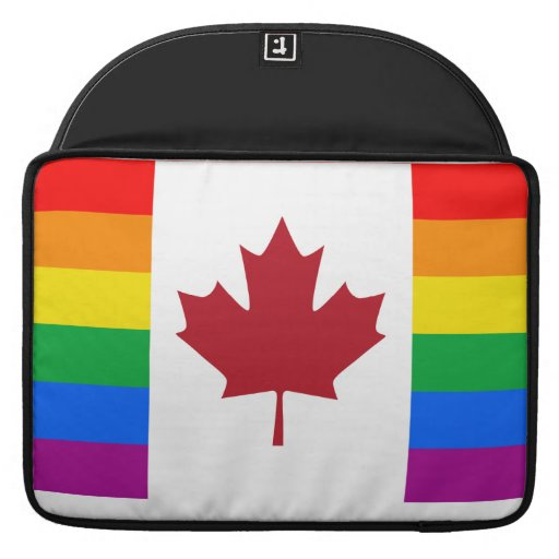 CANADIAN GAY PRIDE FLAG SLEEVE FOR MacBooks
