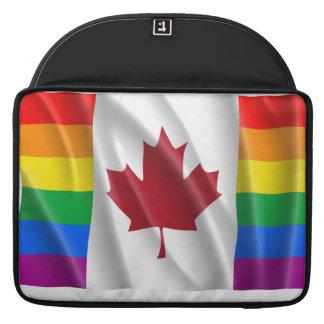 CANADIAN GAY PRIDE FLAG WAVY SLEEVE FOR MacBook PRO