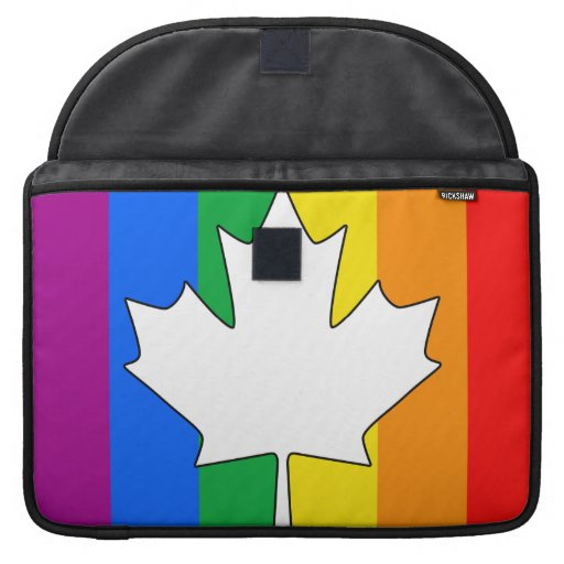 CANADIAN GAY PRIDE MAPLE SLEEVES FOR MacBooks