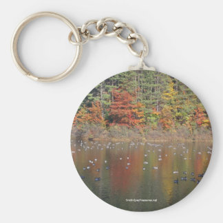 Canadian Geese In Autumn Nature Keychain Keyring
