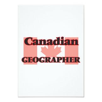 Canadian Geographer 13 Cm X 18 Cm Invitation Card