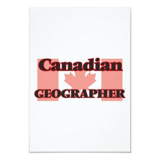 Canadian Geographer 9 Cm X 13 Cm Invitation Card