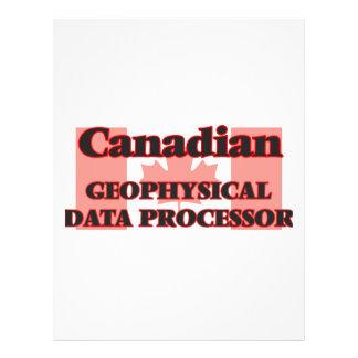Canadian Geophysical Data Processor 21.5 Cm X 28 Cm Flyer
