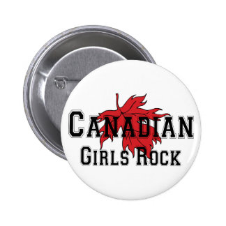 Canadian Girls Rock 6 Cm Round Badge