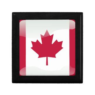 Canadian glossy flag gift box