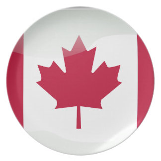 Canadian glossy flag plate