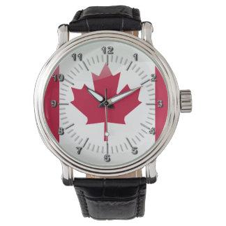 Canadian glossy flag watch