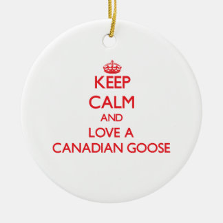 Canadian Goose Round Ceramic Decoration