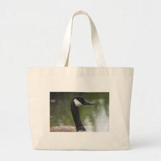 Canadian Goose up close Canvas Bag