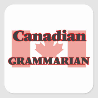Canadian Grammarian Square Sticker