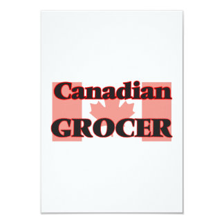 Canadian Grocer 9 Cm X 13 Cm Invitation Card