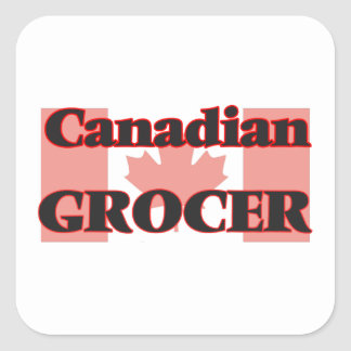 Canadian Grocer Square Sticker