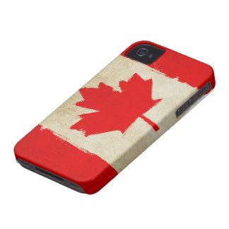 Canadian Grunge Flag iPhone 4 Case-Mate Case