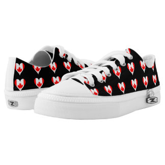 Canadian hearts low tops