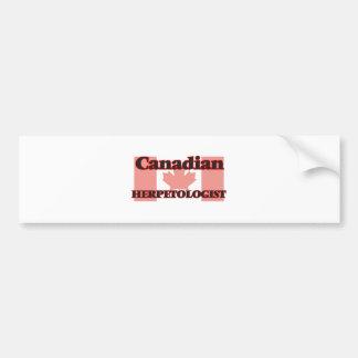 Canadian Herpetologist Bumper Sticker
