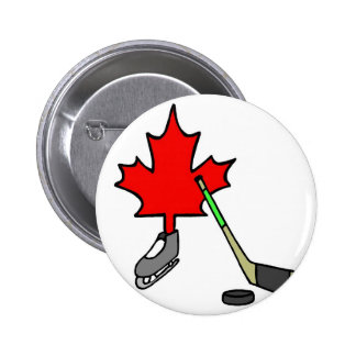 Canadian Hockey 6 Cm Round Badge