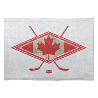 Canadian Hockey Flag Logo Placemat