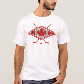 Canadian Hockey Flag Logo T-Shirt